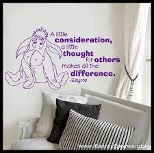 song lyric decals decal drama a little consideration a little thought for others makes all the difference eeyore winnie