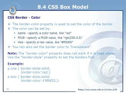 Css Table Border Color Client Side Internet And Web Programming Ppt Download