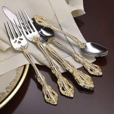 oneida golden michelangelo 18k ep service for 4 18 10 stainless