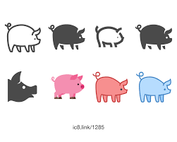 pig icon free download png and vector