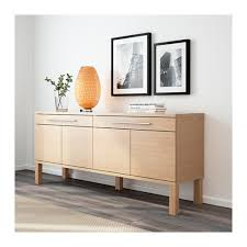 Ikea Buffets And Sideboards Ikea Bjursta Sideboard The Doors Have No Knobs Or Handles But