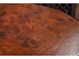 hammered copper dining table horizon home dining room 60 jackson hole dining hammered copper