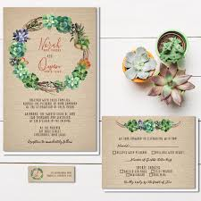 succulent wedding invitations rustic burlap wedding