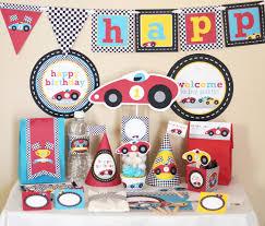 Boy Birthday Decorations Race Car Party Racing Birthday Decorations Printable