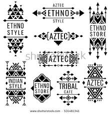 tribal aztec vector pattern indian graphics stock vector 696948928