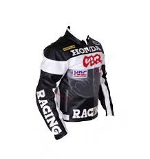 honda cbr cbr racing grey black motorcycle leather jacket
