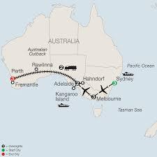 Australian Outback Map Australian Tour By Train Globus