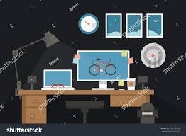 Graphic Designer Desk Graphic Designer Desk Vector Stock Vector 185127128 Shutterstock