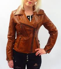 light brown leather jacket womens rebecca retro seventies indie tan short leather biker jacket