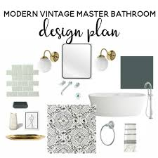 vintage bathroom design modern vintage master bathroom design plan