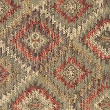Diamond Upholstery Green Gold And Red Diamond Southwest Style Upholstery Fabric By