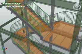 stairs and railings autodesk advance steel graitec