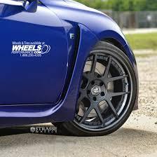 lexus isf supercar strasse forged sm5 sc concave wheels satinblackcenters