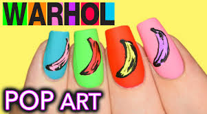 boyfriend does my voiceover andy warhol banana pop art nails