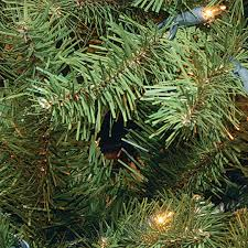 7 5 ft pre lit hinged valley spruce artificial