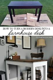Simple Diy Desk by Home Office Space Diy Farmhouse Desk Gray Washed Stain Casa