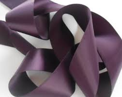 eggplant ribbon wedding ribbon etsy
