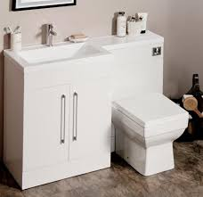 L Shaped Bathroom Vanity by L Shaped Gloss White Vanity Unit And Wc Combination Lh