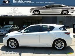 white lexus 2011 2011 lexus ct 200h hybrid premium in starfire white pearl 005356