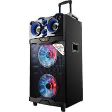 bluetooth party speakers with lights qfx pbx 510200btl portable party speaker pbx 510200btl b h photo