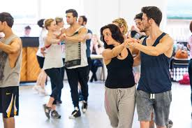 Hit The Floor Cast Mia - mamma mia london 2014 2015 cast rehearsals photo by matt