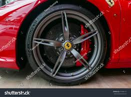 red ferrari close red ferrari f430 scuderia front stock photo 671496112
