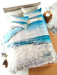 Fish Themed Comforters Custom Ocean Rain Queen Size Modern Quilt Beach Themed King Size