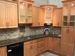 kitchen color ideas with light wood cabinets countertop countertops with light backsplash maple honey spice