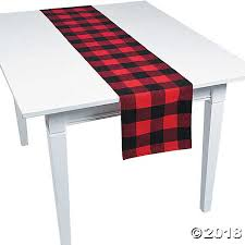buffalo plaid table runner plaid fabric table runner