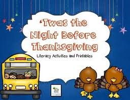 twas the before thanksgiving literacy activities literacy