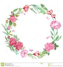 Chic Flower Shabby Chic Floral Wreath Stock Illustration Image 57362727