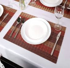 dining table placemats dining table 4pcs lot placemat printing dining table placemats sets 6 2 pcs sicohome crossweave woven vinyl placemats for dining table heat