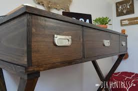 Diy Desk Drawer Diy X Leg Desk With Drawers Buildsomething