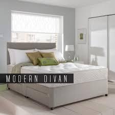 Divan Bed Set Memory Foam Mattress 6