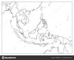 East Asia Map Blank by South East Asia Political Map Black Outline On White Background