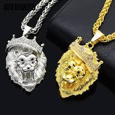 big necklace pendants images Hip hop big lion head necklace pendants animal king vintage gold jpg