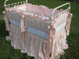 ballet pink handkerchief linen 2 ruffled nursery