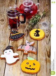 gingerbread for halloween with red tea funny holiday food for c