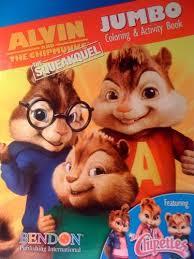 alvin chipmunks squeakquel jumbo coloring u0026 activity