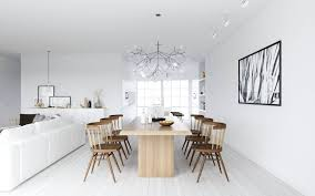 Mixed Dining Room Chairs by Artsitic White Pendant Lamp Mixed Scandinavian Style Dining Room