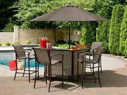 Patio Bar Furniture Set Lovable Outdoor Patio Bar Table With Portable Home Regarding