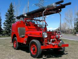 willys jeep truck 3300 miles from new 1947 willy jeep cj2a fire truck bring a trailer