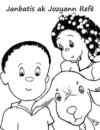 haiti coloring book page 01 printables fonts templates