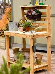 Plant Bench Plans - more pallet potting bench plans makes it easy to design and build