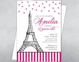 eiffel tower invitations boland design paper co birthday invitation parisian