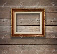 old wood room with gold frame background stock photo picture and