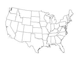 united states map outline free free blank outline map of us slide 1 cdoovision