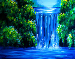 blue falls liz w waterfall painting close up u2026 pinteres u2026