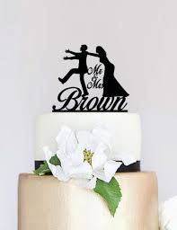 Funny Wedding Cake Toppers Funny Wedding Cake Topper Bride And Groom Silhouette Custom Cake