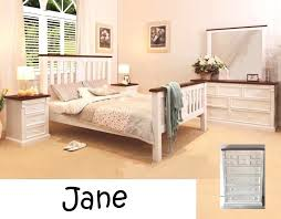king bedroom suite jane timber king bedroom suite bed frame 2 x bedside chest in off